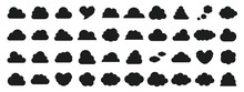 Black And White Cloud Icon Set