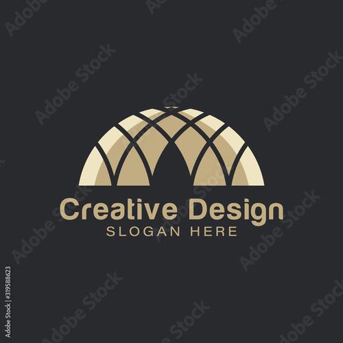 Obraz na plátne Gold  Islamic Dome Palace logo Ideas