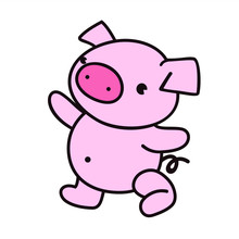 The Concept Of A Cute Pig For ...