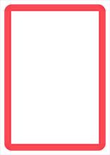 Red Frame On White Background With Copy Space For Your Text