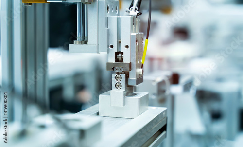Fototapeta robotic pneumatic input to robot handle grip handle obraz