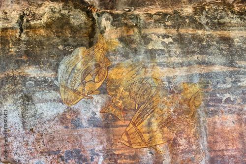 Fotografie, Obraz Close-Up Of Drawing On Rock