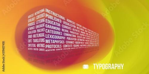 Vászonkép Typography