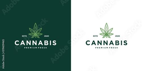 Photographie Marijuana health medical cannabis logo designs vector hemp cbd oil extract green