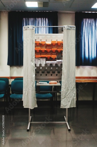 Fotografie, Tablou Voting Booth In Room