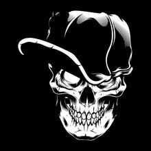 Vector Illustration Skull Wear...