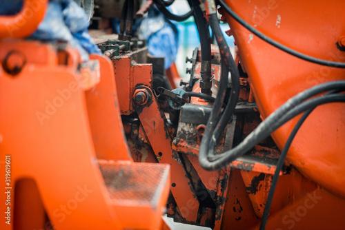 Obraz Close-Up Of Tractor - fototapety do salonu