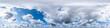 Leinwandbild Motiv Nahtloses Panorama mit blauem Himmel 360-Grad-Ansicht und schönen Wolken zur Verwendung in 3D-Grafiken als Himmelskuppel oder zur Nachbearbeitung von Drohnenaufnahmen