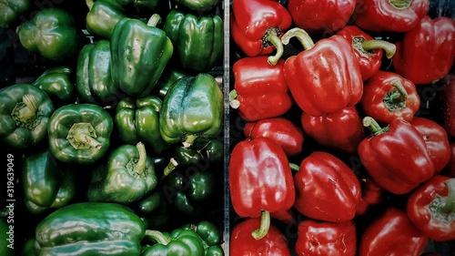Fotografie, Obraz Full Frame Shot Of Bell Peppers For Sale At Market
