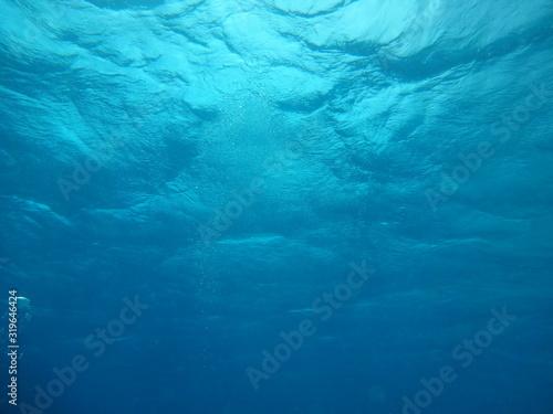 Underwater photo of water surface - fototapety na wymiar