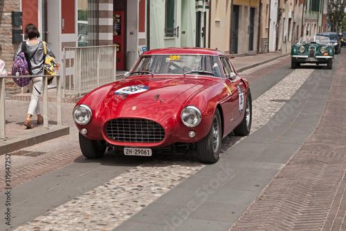 Ferrari 250 MM Berlinetta Pininfarina (1953) in classic historical race Mille Mi Poster Mural XXL