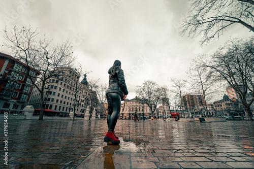 Obraz na plátne dia lluvioso en la ciudad