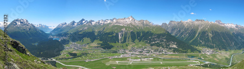 Samedan, Airport St. Moritz, Engadin, Schweiz Tablou Canvas