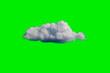 Leinwanddruck Bild - White Cloud on Green Sky or Background.