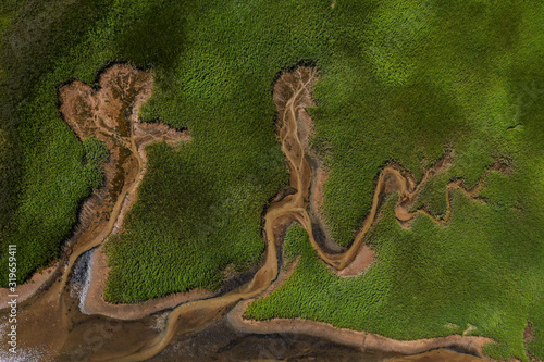 Tablou Canvas Aerial photography of Cape Cod`s awesome marshlands and pure wilderness