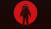 Astronaut In A Red Space Suit ...