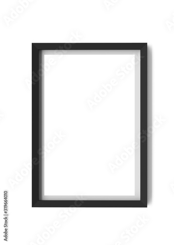 black frame isolated on white