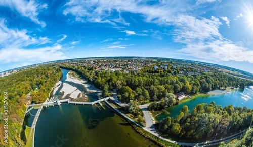 Photo Luftaufnahme Lech, Kuhsee, Hochablass, Augsburg