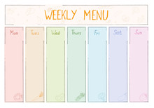 Cute A4 Template For Weekly Me...