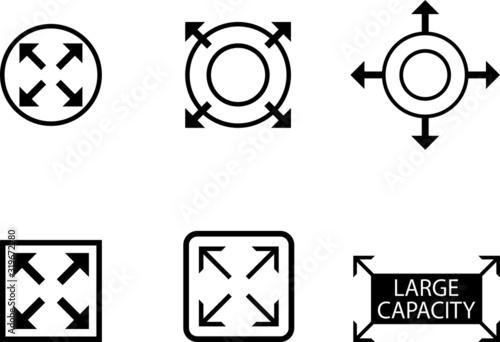 Fototapeta large capacity icon, expand icon obraz