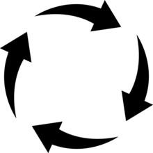 Hot Air Circulation Icon - Vector Illustration