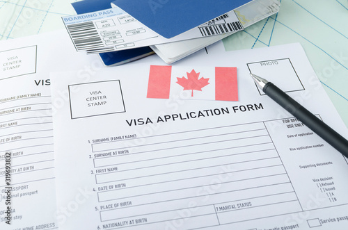 Photo Concept of getting canadian visa
