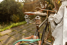 Close-Up Of Abandoned Old Bicycle