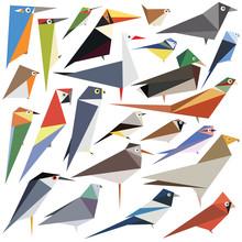 Simple Bird Designs Set