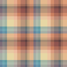 Seamless Pattern In Stylish Light Yellow, Dark Blue, Beige And Brown Colors For Plaid, Fabric, Textile, Clothes, Tablecloth And Other Things. Vector Image.