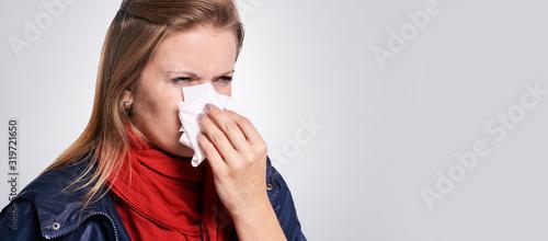 Fototapeta Virus sick woman