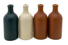 A Row Of Four Old Stoneware Be...