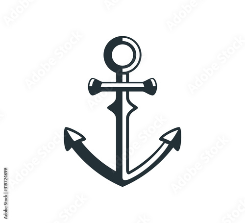 Fotografiet ship anchor vector graphic design for logo and illustration