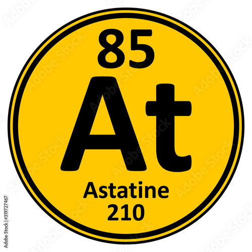 Photo Periodic table element astatine icon.