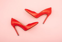 Red Shoes Isolated On White Ba...