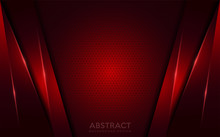 Abstract Dark Red Background With Texture Effect Overlap Layer Design. Futuristic Modern Background.