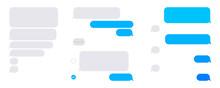 Flat Phone Text Bubbles On Whi...