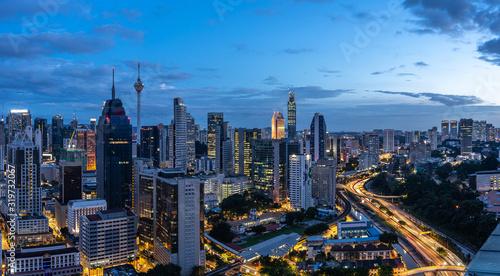 panoramic city skyline in kuala lumpur Canvas Print