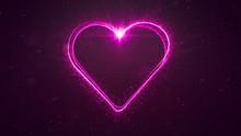 Pink Heart Light Strike Outlin...