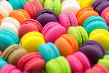 Full Frame Shot Of Multi Colored Macaroons