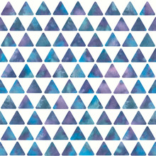 Watercolor Pink-blue Triangle ...