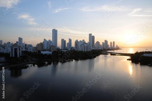 Panoramic sunrise sector El Laguito Cartagena