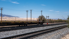 Railway In The Desert Of Calif...