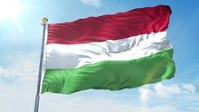 Hungary Flag Waving In The Win...