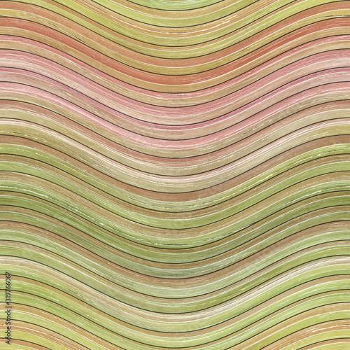 Fototapeta drewno  carved-waves-stripes-color-on-wood-background-seamless-texture-3d-illustration