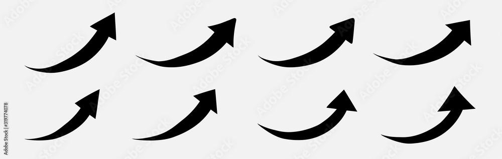 Fototapeta Arrow up curve vector. Arrow up. Arrow up icon