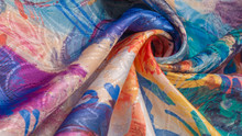 Texture, Background, Pattern, Wallpaper, Postcard, Poster, Silk Fabric With A Painted Artist's Palette, Bright Colors, Colors, Unrestrained Imagination - This Is What You Need For Your Projects