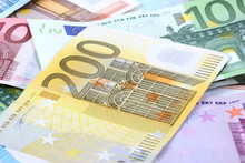 Euro Banknotes - Background, T...