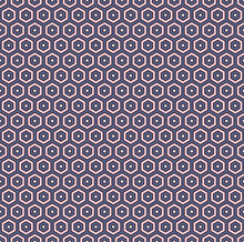 Honeycomb Abstract Background. Hexagon Tiles Mosaic Wallpaper. Seamless Pattern With Classic Geometric Ornament.