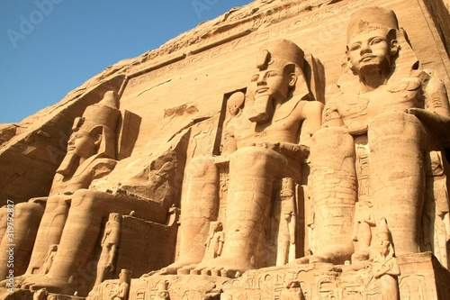 Valokuva Low Angle View Of King Sculptures At Abu Simbel Temple