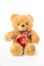 Fluffy Teddy Bear Isolated On White